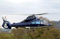 G-CEYU @ EGBC - Aerospatiale AS.365N1 Dauphin [6298] (Multiflight) Cheltenham Race Course~G 12/03/2013