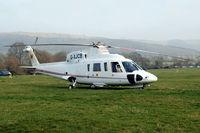 G-XJCB @ EGBC - Sikorsky S-76C+ [760616] ( J C Bamford Excavators Ltd) Cheltenham Racecourse~G 14/03/2012 - by Ray Barber