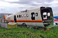 N927BA @ CYBW - De Havilland Canada DHC-6-100 Twin Otter [50] (Rocky Mountain Aircraft) Calgary Springbank~C 22/07/2008. Stored frame.