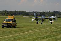 N25Y @ EDTS - Lockheed P38 Lightning