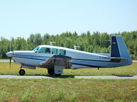 C-GMMM @ YPQ - This 1975 Mooney M20F is taxiing for takeoff at  the Peterborough Ontario Airport - by Ron Coates