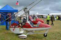 G-BUJK @ EGBP - Bensen B.8MR Gyrocopter [PFA G/01-1211] Kemble~G 02/07/2005