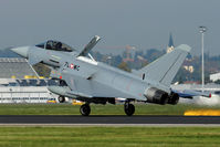 7L-WC @ LOWL - Austrian Airforce Eurofighter EF-2000 Typhoon S landing on RWY26 in LOWL/LNZ - by Janos Palvoelgyi