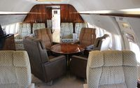 N737WH @ ORL - Interior of the former Miami Dolphins BBJ