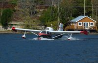 C-FDYE - Water takeoff from Lake Massawippi in North Hatley, QC Canada - by George Grefe