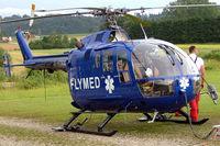 D-HDRA @ LOLU - MBB/Bolkow Bo.105CBS-5 [S-391] (FlyMed) Gmunden~OE 15/07/2009 - by Ray Barber