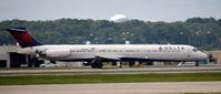 N966DL @ KATL - Thrust reversers on landing Atlanta - by Ronald Barker