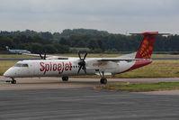 VT-SUC @ EHBK - Spicejet Dash8-400