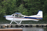 C-GZYN @ NONE - C-GZYN moored at Powell River BC - by Pete Hughes