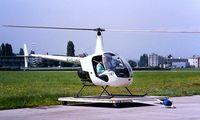 F-GJBE @ LFLI - Robinson R-22 Beta [1348] (Mont Blanc Helicopters) Annemasse~F 11/08/1997