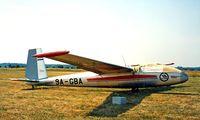 9A-GBA @ LDVC - 9A-GBA   LET L-13 Blanik [027048] Cakovec-Pribislavec~9A 18/06/1996 - by Ray Barber