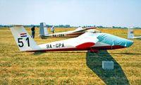9A-GPA @ LDVC - Pilatus B4-PC11AF [291] Cakovec-Pribislavec~9A 18/06/1996 - by Ray Barber