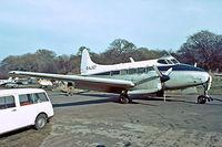 G-AJGT @ EGKB - De Havilland DH.104 Dove 7XC [04034] (R.F.Saywell Ltd) Biggin Hill~G 17/05/1975. Taken from a slide.