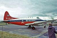 G-ALFU @ EGSU - De Havilland DH.104 Dove 6 [04234] (CAA) Duxford~G 28/06/1975. Taken from a slide.