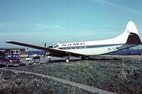 9L-LAL @ EGKB - De Havilland DH.114 Heron 1B [14005] (N.D.M.C.-National Diamond Mining Co) Biggin Hill~G 17/05/1975. Taken from a slide.