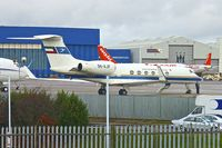 9K-AJF @ EGGW - 1999 Gulfstream Aerospace G-V Gulfstream V, c/n: 573 at Luton - by Terry Fletcher