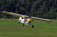 D-ELQY @ EBDT - Piper L-18C-95 Super Cub [18-3083] Schaffen-Diest~OO 14/08/2010 - by Ray Barber