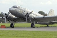 N347DK @ EGBP - Douglas DC3C-R-1830-90C, c/n: 32820 at Kemble - by Terry Fletcher