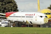 B-5092 @ EGBP - The inappropriately named Lucky Air B737 c/n 29092 ex LN-TUG, VH-VBX  under the axe at Kemble - by Terry Fletcher