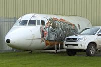 N25AG @ EGBP - Jetstar  fuselage at Kemble Airport - by Terry Fletcher