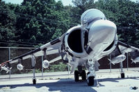 161396 @ NHK - Up close view Salty Dog 623 NATC Test Sqdn's Harrier II - - Last flight Sept 1989 - by John Hevesi