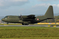 8T-CB @ LOWL - Austrian Airforce Lockheed C130K Hercules landing in LOWL/LNZ - by Janos Palvoelgyi