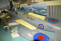G-AIBE @ EGDY - Displayed at the Fleet Air Arm Museum at Yeovilton