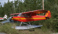 C-FSPP @ CEZ5 - In storage at Schwatka Lake at Whitehorse, Yukon. Note the old-style registration, CF-SPP instead of the current C-FSPP. - by Murray Lundberg