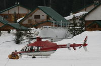 C-FTHD - At Bell II Lodge on the Stewart-Cassiar Highway in northern British Columbia, working for Last Frontier Heliskiing. - by Murray Lundberg