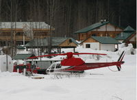 C-GPWV - At Bell II Lodge on the Stewart-Cassiar Highway in northern British Columbia, working for Last Frontier Heliskiing. - by Murray Lundberg