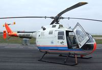 D-HDDP @ EDDK - MBB Bo 105C of the DLR at the DLR 2013 air and space day on the side of Cologne airport
