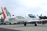 D-ETPX @ EDDK - Grob G.120TP at the DLR 2013 air and space day on the side of Cologne airport