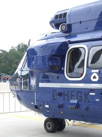 D-HEGK @ EDDK - Aerospatiale AS.332L1 Super Puma of the German federal police (Bundespolizei) at the DLR 2013 air and space day on the side of Cologne airport - by Ingo Warnecke