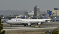 N116UA @ KLAX - Taxiing to gate at LAX