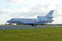 M-OMAN @ EGGW - 2011 Dassault Falcon 7X, c/n: 138 at Luton - by Terry Fletcher
