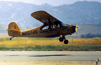 N2272E @ RNM - Aeronca 7AC Champion of Pinkerton Aviation in action at Ramona in the Summer of 1973. - by Peter Nicholson