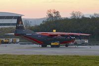 UR-CKL @ EGNX - Cavok Air's Antonov An-12BP, c/n: 01348005 at first light on cargo ramp at East Midlands