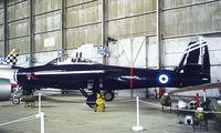 110822 @ LGTT - Republic F-84G Thunderjet [51-10822] (Greek Air Force) Dekelia-Tatoi~SX 02/04/1998 - by Ray Barber