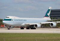 B-LJH @ MIA - Cathay Cargo 747-800