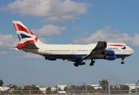 G-CIVB @ MIA - British 747-400