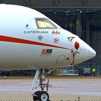 9M-CJG @ EGGW - 1998 Bombardier BD-700-1A10, c/n: 9003 - by Terry Fletcher