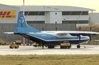 UR-DWF @ EGNX - Air Charter Ukraine's Antonov An-12BK, c/n: 8345802 on the East Midlands Airport Cargo ramp