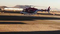 N702MT @ KTUS - MedTrans helicopter at their hangar, Tucson AZ