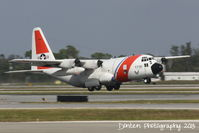 1718 @ KSRQ - US Coast Guard HC-130 Hercules (1718) from Air Station Clearwater departs Sarasota-Bradenton International Airport - by Donten Photography