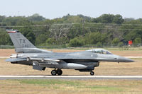85-1467 @ NFW - 301st Fighter Wing F-16 at NAS Fort Worth - by Zane Adams