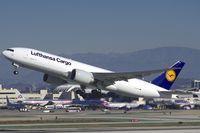 D-ALFB @ KLAX - Lufthansa Cargo 777-200LRF - by speedbrds