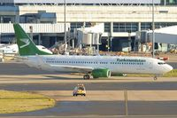 EZ-A017 @ EGBB - Turkmenistan Airlines's 2013 Boeing 737-82K, c/n: 43863 - starts the final leg of its delivery flight - as it taxies out at Birmingham