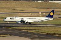 D-AEMB @ EGBB - Lufthansa's 2009 Embraer ERJ-190-200LR 195LR, c/n: 19000297 at Birmingham