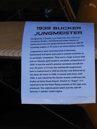 N100BU @ SZP - 1939 Dornier Werke Bucker BU 133 JUNGMEISTER, 'Angel's Story - by Doug Robertson