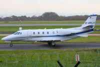 D-CFLY @ EGCC - Air Hamburg Private Jets - by Chris Hall